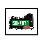 Shrady Pl, Bronx, NYC Framed Panel Print