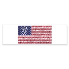 Lacrosse Defense Flag Bumper Bumper Sticker
