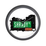Shrady Pl, Bronx, NYC Wall Clock