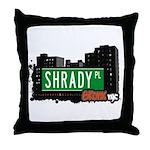 Shrady Pl, Bronx, NYC Throw Pillow