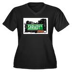 Shrady Pl, Bronx, NYC Women's Plus Size V-Neck Dar