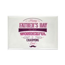 Happy Father's Day Rectangle Magnet (100 pack)