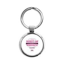 Happy Father's Day Round Keychain