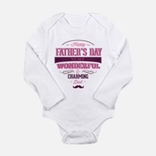Happy Father's Day Long Sleeve Infant Bodysuit