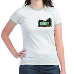 Shrady Pl, Bronx, NYC Jr. Ringer T-Shirt