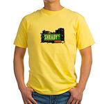 Shrady Pl, Bronx, NYC Yellow T-Shirt