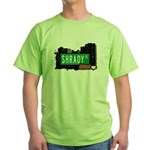Shrady Pl, Bronx, NYC Green T-Shirt