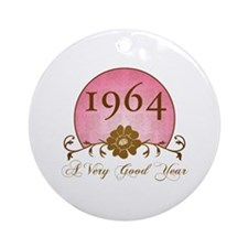 1964 Birthday For Her Ornament (Round)