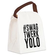 Hashtag Swag Twerk Yolo Canvas Lunch Bag