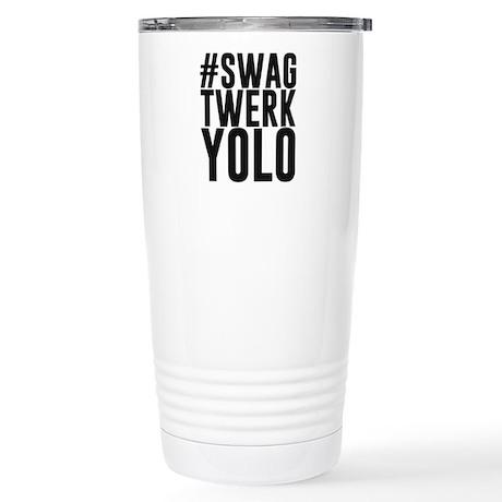 Hashtag Swag Twerk Yolo Travel Mug