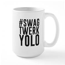 Hashtag Swag Twerk Yolo Mugs