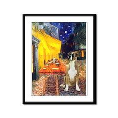 Cafe & Boxer Framed Panel Print