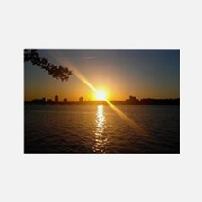Charles River Sunset Rectangle Magnet
