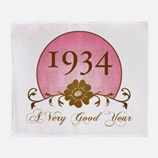 1934 Birthday For Her Throw Blanket