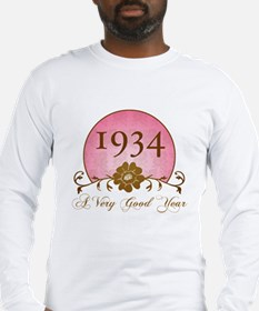 1934 Birthday For Her Long Sleeve T-Shirt