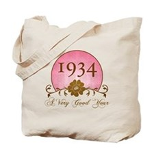 1934 Birthday For Her Tote Bag