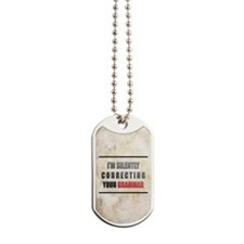 Silently Correcting Your Grammar Dog Tags