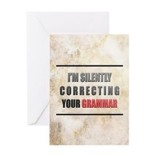 Silently Correcting Your Grammar Greeting Card