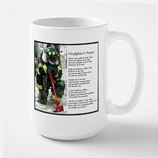 Old Version Firefighter Prayer Mugs