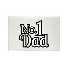 No.1 Dad Rectangle Magnet
