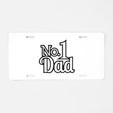 No.1 Dad Aluminum License Plate