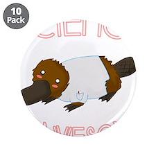 """Cute Nerdy 3.5"""" Button (10 pack)"""