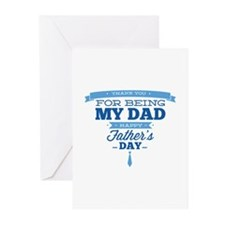 Thank You For Being My Dad Greeting Cards (Pk of 1