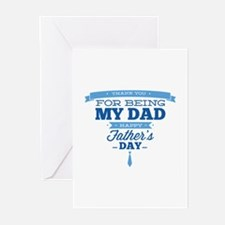 Thank You For Being My Dad Greeting Cards (Pk of 2