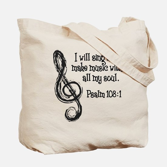 PSALM 108:1 Tote Bag