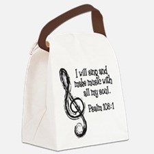 PSALM 108:1 Canvas Lunch Bag