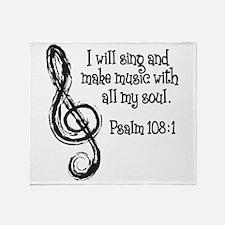 PSALM 108:1 Throw Blanket