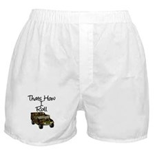 Cute How i roll Boxer Shorts