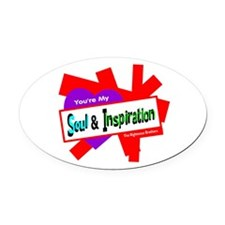 Soul Inspiration-Righteous Brothers Oval Car Magne