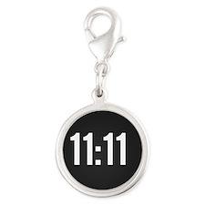 11:11 Silver Round Charm
