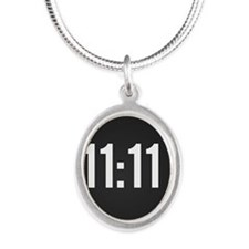 11:11 Silver Oval Necklace