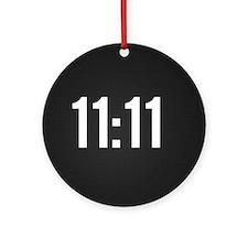 11:11 Round Ornament