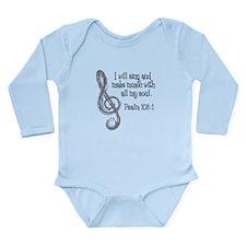 PSALM 108:1 Long Sleeve Infant Bodysuit