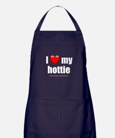 """Love My Hottie"" Apron (dark)"