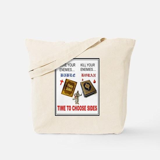 CHOOSE SIDES Tote Bag