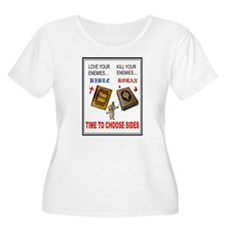 CHOOSE SIDES Plus Size T-Shirt