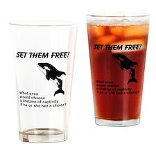 Set Them Free! Drinking Glass