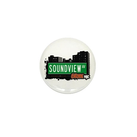 Soundview Av, Bronx, NYC Mini Button (10 pack)