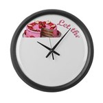 Let them eat cake! Large Wall Clock