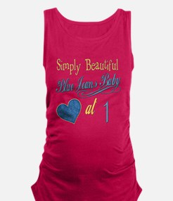 Blue Jeans Baby 1 Maternity Tank Top