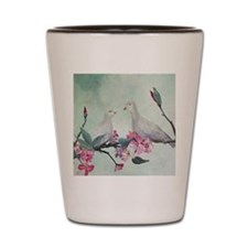 Love Doves ART Painting is beautiful Shot Glass