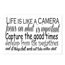 life is like a camera Postcards (Package of 8)
