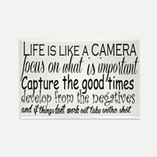 life is like a camera Rectangle Magnet