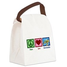 Peace Love Snowmobile Canvas Lunch Bag