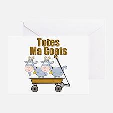 Totes Ma Goats Greeting Card
