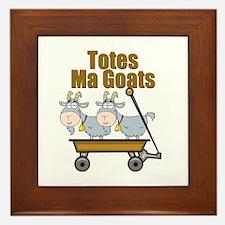 Totes Ma Goats Framed Tile